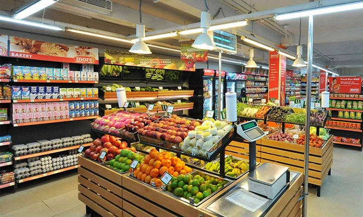 10 largest retail chain of hypermarkets in india.