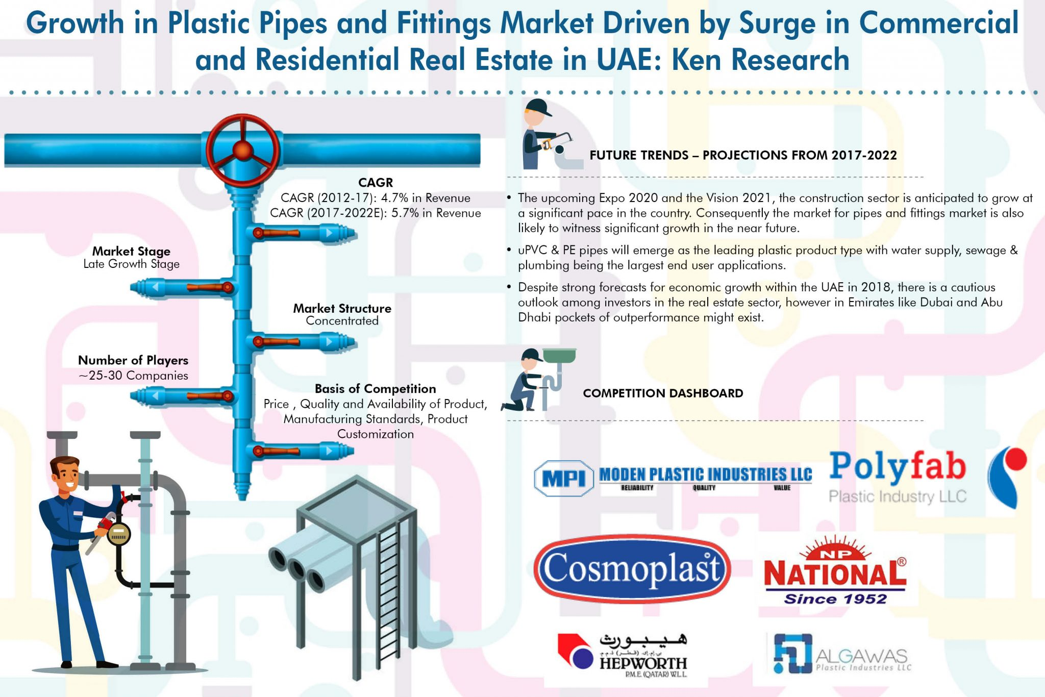UAE Plastic Pipes and Fittings Market, Plastic Pipes and