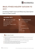 Brazil Fitness Services and Equipment Industry Outlook to 2019 - Increasing Health Concerns and ease in Subscription Rates to Foster Growth