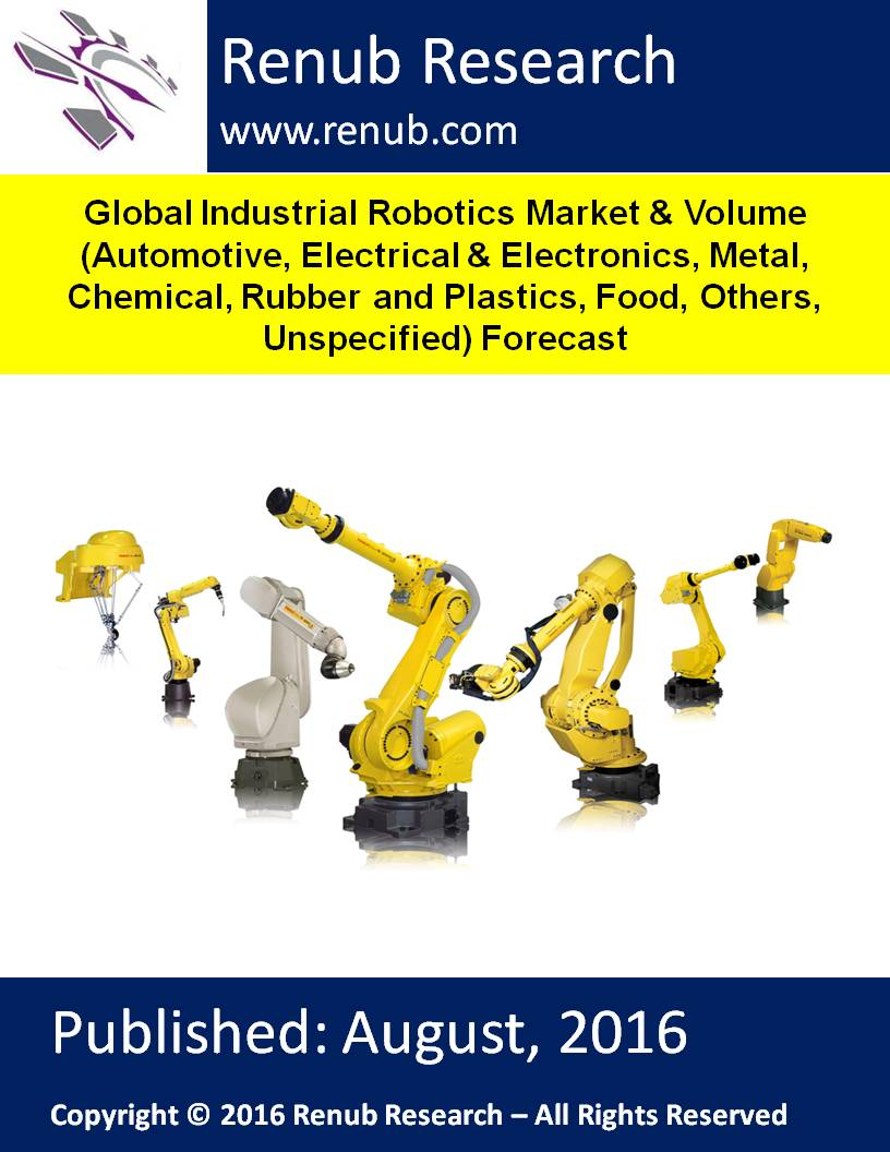 Global Industrial Robotics Market and Volume (Automotive, Electrical and Electronics, Metal, Chemical, Rubber and Plastics, Food, Others, Unspecified) Forecast